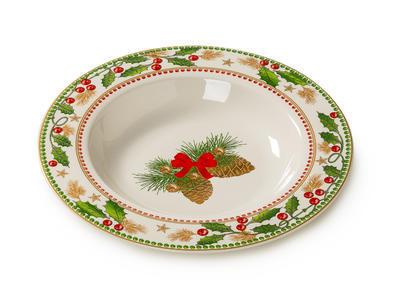 Vánoční talíř hluboký HAPPY DAYS 22 cm, Palais Royal - 1