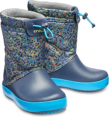Dětské zimní boty CROCBAND LodgePoint Graphic K - Slate Grey/Navy, vel. 30-31, Crocs - 1