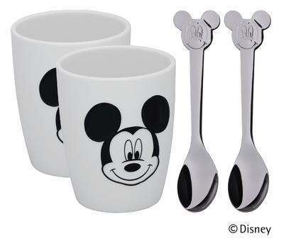 Sada 2poháry, 2lžičky Mickey, WMF - 1