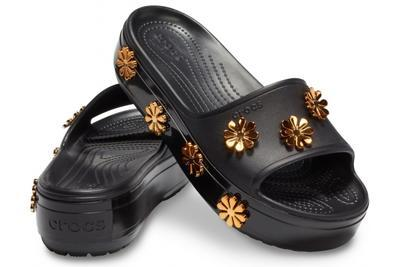 Pantofle METALLIC BLOOMS SLIDE M8/W10 black, Crocs - 1