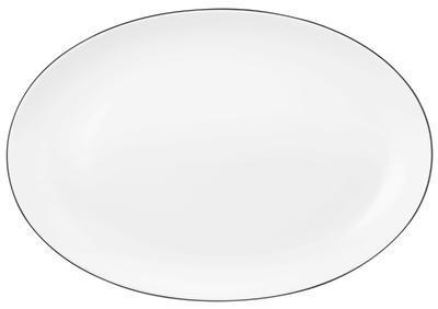 Oválný klubový talíř 35x24cm LIDO BLACK LINE, Seltmann Weiden - 1