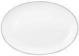 Oválný klubový talíř 35x24cm LIDO BLACK LINE, Seltmann Weiden - 1/3