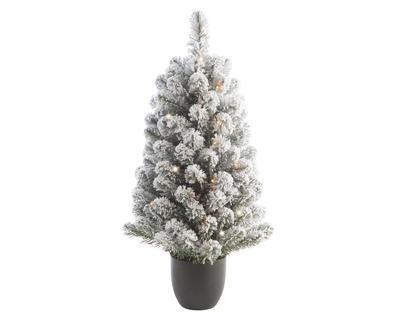 LED zasnežený strom IMPERIAL v květináči, 90cm, Kaemingk