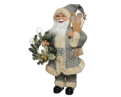 Dekorace Santa s lyžemi - 45 cm, Kaemingk