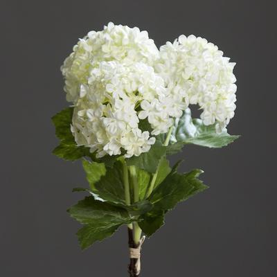 Květina HORTENZIE SVAZEK 3 ks, 31 cm - krémová, DPI