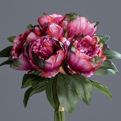 Květiny PIVOŇKY KYTICE 35 cm - fuchsia, DPI