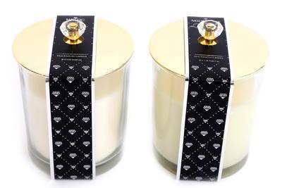 Vonná svíčka s víčkem DIAMONTE, 9x10cm, Sifcon