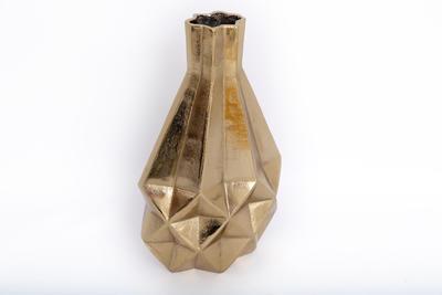 Dekorativní váza GEOMETRIC, 38 cm, zlatá, Sifcon