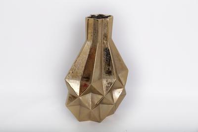Dekorativní váza GEOMETRIC, 45 cm, zlatá, Sifcon