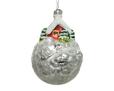 Vánoční ozdoba s chaloupkou, 8x11cm, Kaemingk