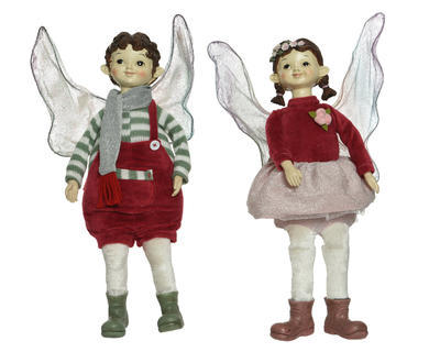 Dekorace ELF, 40cm, chlapec/ dívka, Kaemingk - 1