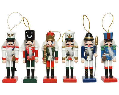 Vánočních ozdoba LOUSKÁČEK, 12cm, 6 druhů , Kaemingk