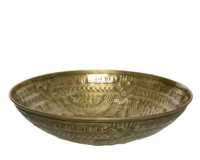Mísa dekorativní, 40x8cm, zlatá, Kaemingk