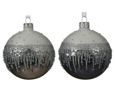 Vánoční ozdoba, 8cm, 2 druhy, Kaemingk - 1