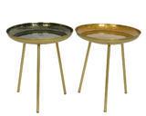 Přídavný stolek, 40x40x41cm, černá/ zlatá, Kaemingk - 1/2