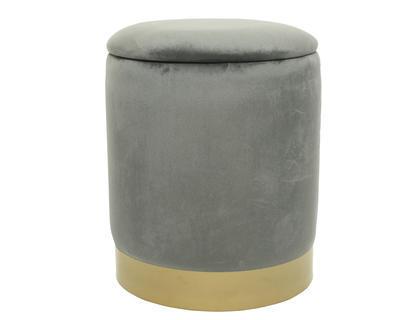 Taburet s úložným prostorem, 31x38cm, šedý, Kaemingk
