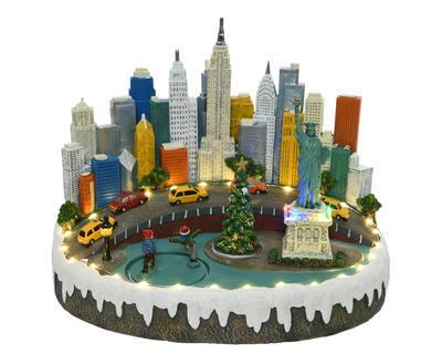 LED dekorace VÁNOČNÍ NEW YORK, 33x26x25cm-32xLED, Kaemingk - 1