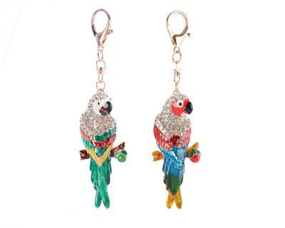 Vánoční ozdoba - Papoušek 15 cm - zelený/modrý, Kaemingk