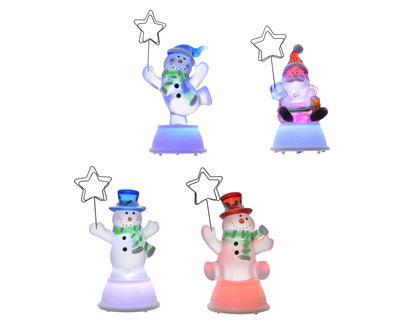 Vánoční dekorace LED - Sněhulák s kloboukem 12 cm, Kaemingk