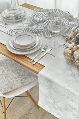 Vánoční ubrus CRISTALLO 150x300 - silber, Sander - 1
