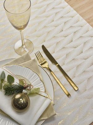 Vánoční ubrus FELICE 150x300 - gold, Sander  - 1