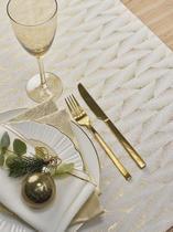 Vánoční ubrus FELICE 150x300 - gold, Sander  - 1/2