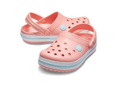 Boty CROCBAND CLOG KIDS C12 melon/ice blue, Crocs - 1
