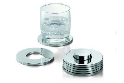 SET 7ks - podložky pod skleničky RINGS, Philippi  - 1