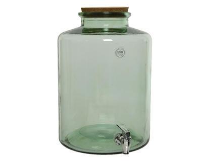 Demižón s kohoutkem - recyklované sklo, 25x35cm, Kaemingk