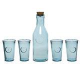 SET 5ks - karafa se sklenicemi v dárkovém balení, recyklované sklo, Kaemingk - 1/4