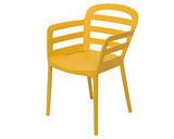 Stohovací židle BOSTON, 56,5x59x81cm, žlutá, venkovní, Kaemingk - 1/2