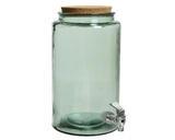 Demižón s kohoutkem - recyklované sklo, 18x30cm, Kaemingk - 1/2