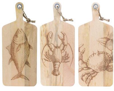 Prkénko, mangové dřevo, 24x58x2,5cm, 3 druhy, Kaemingk - 1