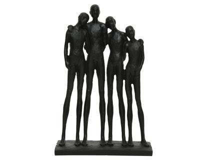 Dekorace SOCHA, 6x18x21cm, černá, Kaemingk