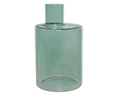 Váza, 11,5x11,5x18,5cm, zelená, sklo, Kaemingk