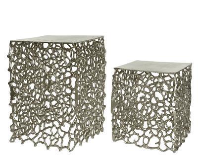 SET 2ks přídavných stolků, stříbrné, Kaemingk