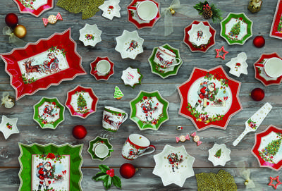 Vánoční šálek & podšálek VINTAGE SANTA RED 250 ml, Easy Life - 2
