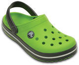 Boty CROCBAND KIDS C6/7 volt green/graphite, Crocs - 2/6