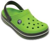 Boty CROCBAND KIDS C6/7 volt green/graphite, Crocs - 2/6