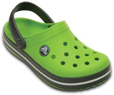 Boty CROCBAND KIDS C6/7 volt green/graphite, Crocs - 2