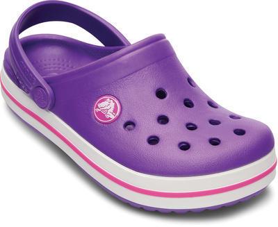 Boty CROCBAND KIDS C6/7 neon purple/neon magenta, Crocs - 2