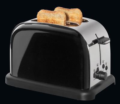 Toaster na dva plátky RETRO - černý, Cilio - 2