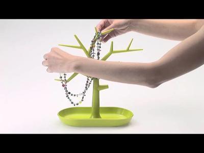 Držák na drobnosti - strom PI:P - hořčicová/transp.olivová, Koziol - 2
