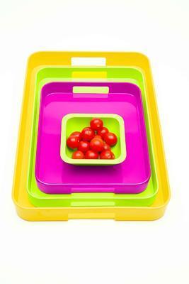 """Servírovací podnos """"L"""" GALLERY 53,5x34,5 cm - berry, Zak! - 2"""