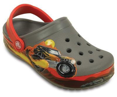Boty CROCBAND MONSTER TRUCK CLOG KIDS C10 smoke, Crocs - 2