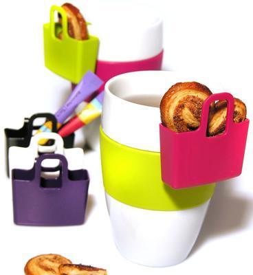 Mini taštička na čajové sáčky LILLI set 2 ks - šedá, Koziol - 2