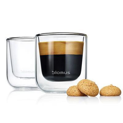 Sada 2 ks - termosklenice espresso NERO 80 ml, Blomus - 2