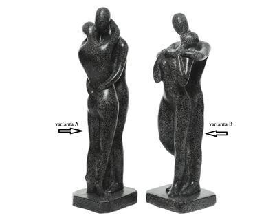 Socha COUPLE, 18x20x56cm, antracit, 2 druhy, venkovní Kaemingk - 2