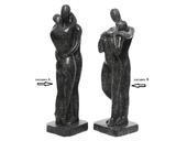 Socha COUPLE, 18x20x56cm, antracit, 2 druhy, venkovní Kaemingk - 2/2