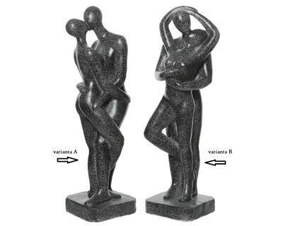 Socha COUPLE, 24,5x24,5x77cm, antracit, 2 druhy, venkovní, Kaemingk - 2